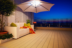 roof terrace on single storey extension